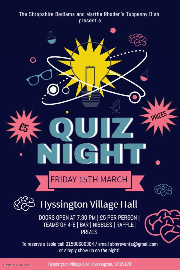 SBMR - QUIZ NIGHT 15 MARCH
